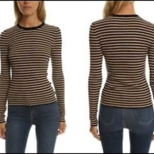 A.L.C. Harmon Ribbed Striped Wool-Blend Sweater